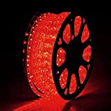 Yescom 150ft Red 2 Wire LED Rope Light Indoor Outdoor Home Holiday Valentines Party Restaurant Cafe Decoration