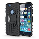 iPhone 6 Case, iPhone 6S Case, Xbows [Rugged Wave] Slim Durable Protective Shockproof Case Built-in Kickstand for Apple iPhone 6/6S (Black)