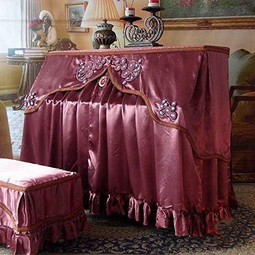 ピアノ保護カバー ピアノベンチカバーアンチダストブレミッシュスクラッチ保護カバー付きヴィンテージテキスタイルヨーロピアンスタイルのピアノカバー (色 : 紫の, サイズ : 38x78cm)