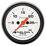 Auto Meter 5786 Phantom 2-1/16-Inch 0-30000 PSI Full Sweep Electric Diesel Fuel Rail Pressure Gauge