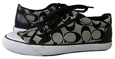 8330ecef9215 Image Unavailable. Image not available for. Color  Coach Women s Barrett  Signature C Jacquard Sneakers ...