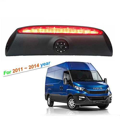 Car Brake Light Reverse camera for Fiat Iveco Daily 2011-2014 4Gen (without brake light) with 6pcs IR Led light Kesafe