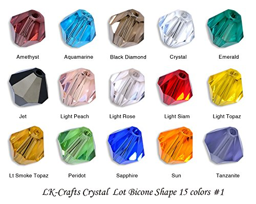 LK-CRAFTS-Wholesale-Lot-Bicone-5328-Crystal-Beads-15-color-1