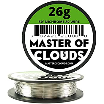 Nichrome 80 50 ft 26 gauge awg resistance wire 040mm 26g 50 nichrome 80 50 ft 26 gauge awg resistance wire 040mm 26g 50 greentooth Choice Image