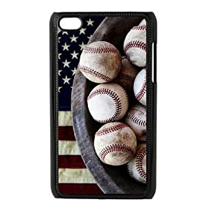 Custom Case Cover for iPod touch4 w/ I Like Baseball image at Hmh-xase (style 12)