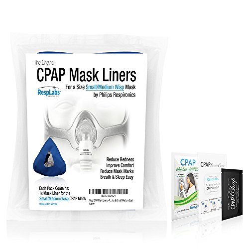 Wisp CPAP Mask Liners – Philips Respironics, Reusable, Washable, Insanely Comfortable by RespLabs Medical Inc.® (Small/Medium Size)
