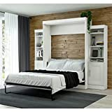 Cheap Bestar Edge Queen Wall Bed with Storage in White
