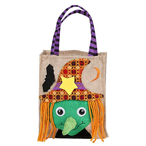 Miliya Halloween Candy Bags, Trick or Treat Candy Tote Bags Cartoon Pumpkin Bag, Bags for Kids Halloween Themed Party Gift