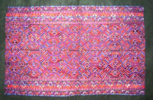 Asian Vintage Textile Art Antique Applique Embroidery 100% Ethnic Needlework #139(I) from Interact China