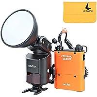 Godox Witstro AD360II-C TTL 360W GN80 Powerful Speedlite Flash Light + 4500mAh PB960 Lithium Battery for Canon EOS Camera (Orange)
