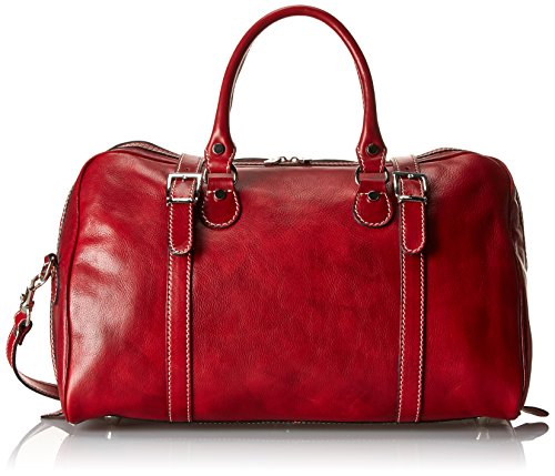 Floto Luggage Trastevere Duffle In Weekender, Tuscan Red, Medium (Best Weekend Trips From Nashville)