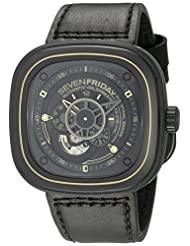 SEVENFRIDAY Men's P2-2 WORKS Analog Display Japanese Automatic Black Watch by SEVENFRIDAY