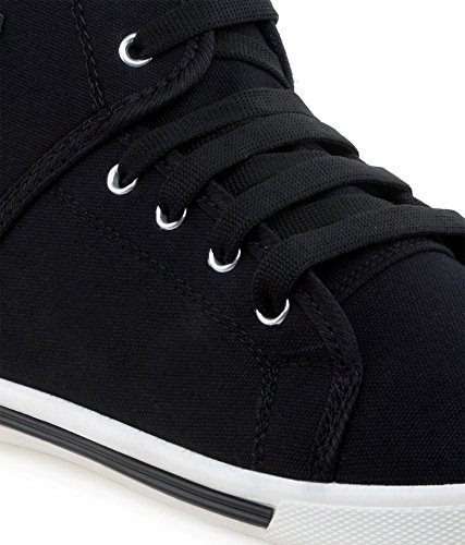 73ce51f5e6a5f SCATCHITE Men s Black Faux Leather Casual Shoes  Buy Online at Low Prices  in India - Amazon.in