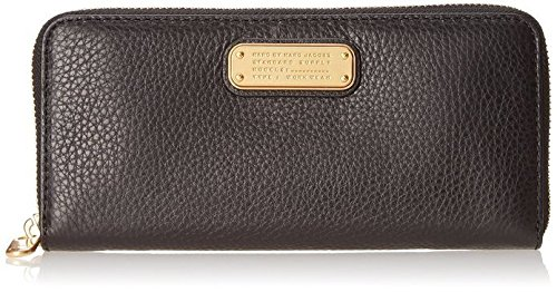 Marc By Marc Jacobs New Q Slim Ziparound Wallet, Black Pebble Leather, One Size by Marc by Marc Jacobs