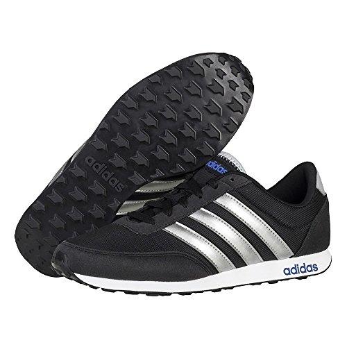 adidas V Racer, Scarpe da Ginnastica Uomo, Nero (Negbas/Plamat/Azul), 39 EU