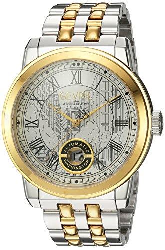 Gevril-Mens-Washington-Swiss-Automatic-and-Gold-Stainless-Steel-Casual-Watch-ColorTwo-Tone-Model-2623B