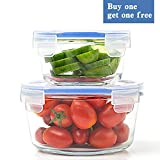 Glass Food Storage Container with Lid - Glass Meal Prep Containers - Round