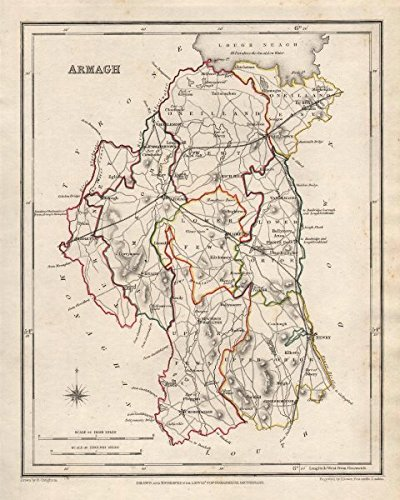 COUNTY ARMAGH antique map for LEWIS by CREIGHTON DOWER Ulster