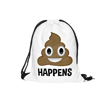 bd084d530103 3d Print Drawstring Backpack Emoji Funny Series Shoulder Bags Gym Bags for  Kids 15