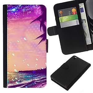 All Phone Most Case / Oferta Especial Cáscara Funda de cuero Monedero Cubierta de proteccion Caso / Wallet Case for HTC DESIRE 816 // Summer Sea Stars Vibrant Sunshine