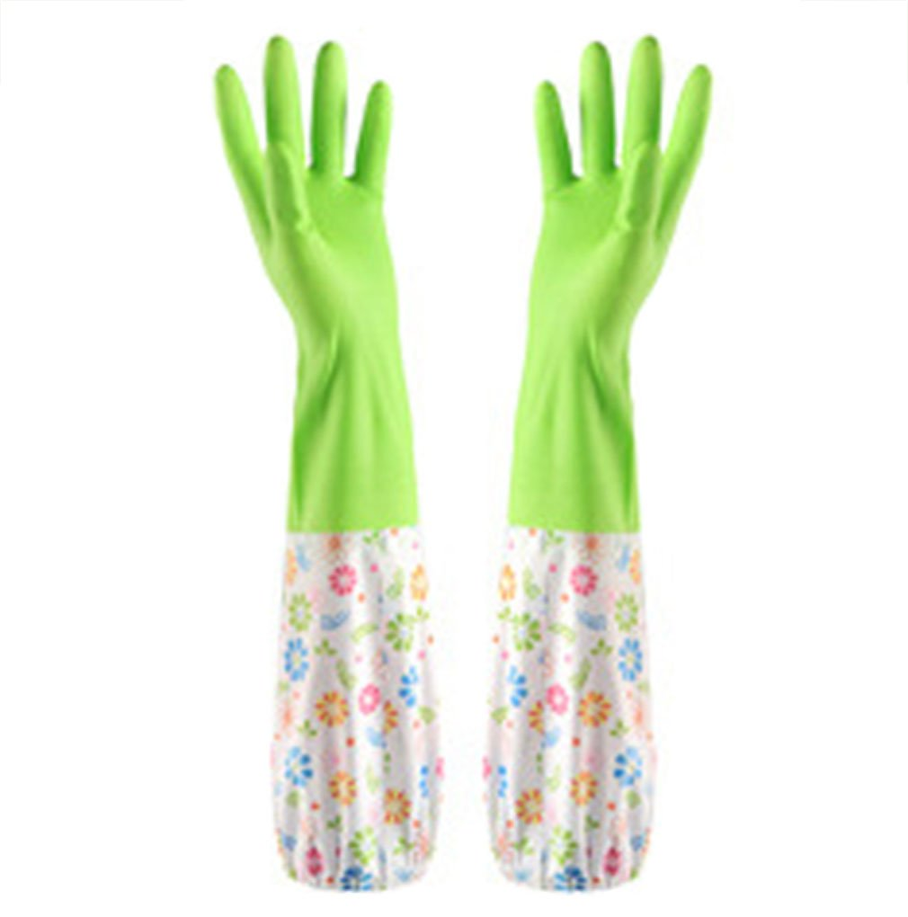 Waterproof Reusable PVC Gloves Dishwashing Gloves Household Housework Gloves,Green by Aibearty