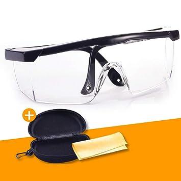L PC Gafas De Soldadura Transparentes A Prueba De Polvo Anti-Splash Gafas Anti-Impacto De Argón Arco Soldadura Gafas Soldador Equipo De Protección,A: ...