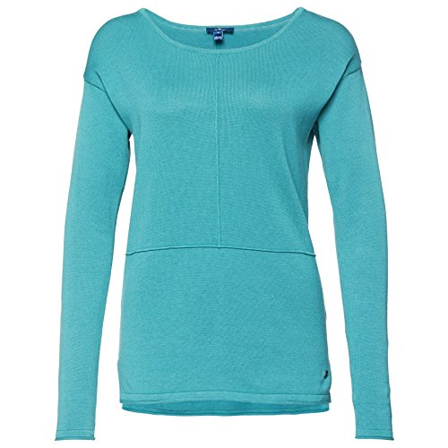 Tom Tailor Sweater with Seamings, Suéter para Mujer turquesa