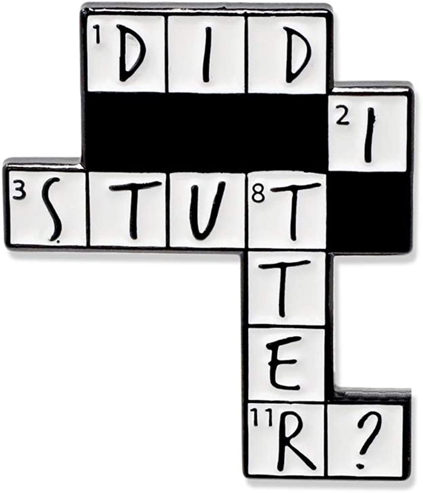 WIZARDPINS Did I Stutter Crossword Puzzle Stanley The Office Enamel Pin