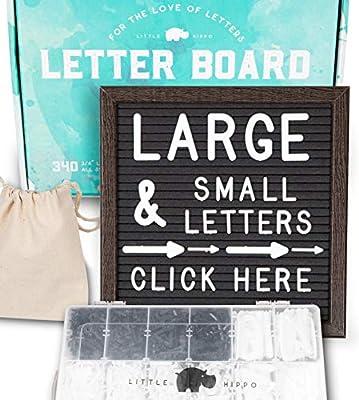 "Letter Board 10""x10"" (Dark Gray) +690 PRE-Cut Letters +Bonus Cursive Words +Stand +Sorting Tray | Felt Letter Board with Letters, Letter Boards, Letterboard, Word Board"