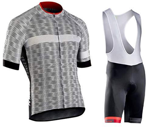 9D Padded Summer Cycling Jersey Short Sleeve Set bib Shorts Bicycle -