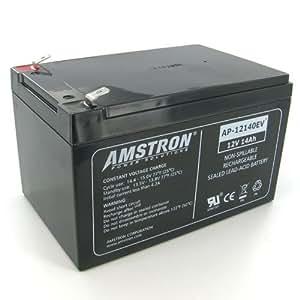 amstron 12v 14ah deep cycle sla battery f2 terminal electronics. Black Bedroom Furniture Sets. Home Design Ideas