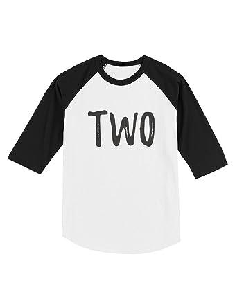Amazon 2nd Birthday Gift For Two Year Old Child Toddler Raglan 3 4 Sleeve Baseball Tee Clothing
