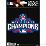 """Chicago Cubs 2016 WORLD SERIES CHAMPIONS Officially Licensed Rico Die-Cut Window Decal! Celebrate 108 Years in the making with this Brand New Decal 5.5"""" x 3.5 """" Inches ! Makes a Great Gift!"""