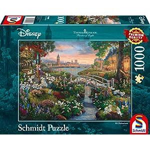 Schmidt Spiele 59489 Puzzle Da 1000 Pezzi Soggetto Thomas Kinkade Disney 101 Dalmatiner