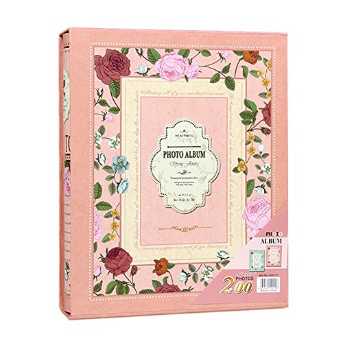 Ksmxos Frame Cover Photo Album 200 Pockets Hold 4.5x6 Photos - Order Track My Number Order With
