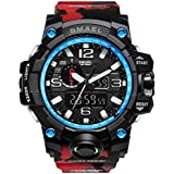 Wrist Watch for Men Under 10❤SMAEL Mens Sports Multi-Function Waterproof LED Digital Quartz Wrist Watch 1545