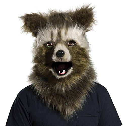 Rubie's Costume Co Men's Guardians of The Galaxy Rocket Raccoon Costume, As Shown, Faux Fur Mask ()