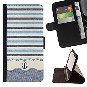 Jordan Colourful Shop - stripws crocheted fabric boat For Apple Iphone 5 / 5S - Leather Case Absorci???¡¯???€????€????????&cen