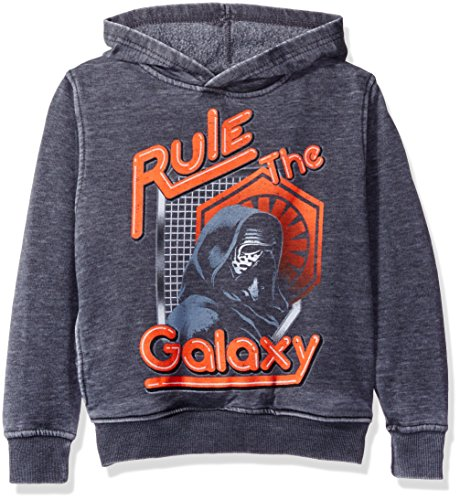 Star Wars Big Boys' Rogue One Kylo Ren Fleece Pullover, Charcoal Heather, S