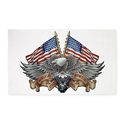 area rug eagle american flag
