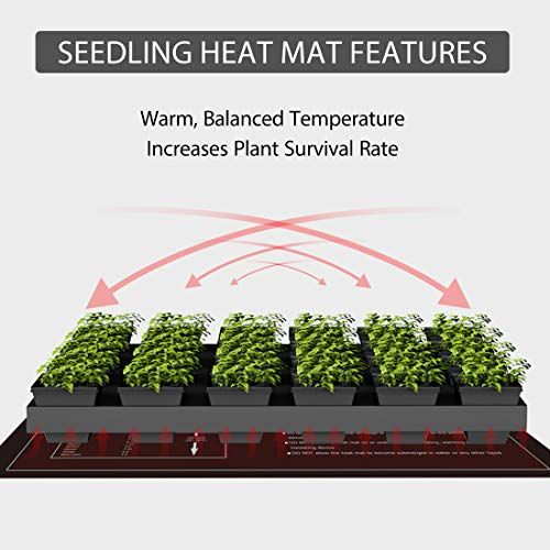 VIVOHOME 20W Waterproof Seedling Heat Mat for Seed Starting Propagation and Increase Germination Success 10 Inch x 20.75 Inch MET Safety Standard Certified