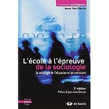 Ecole epreuve sociologie (3e) ouvertures sociolog.