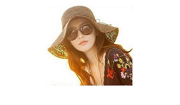 Monkeybrother Sombrero de paja para mujer 184a0134386