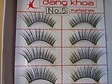 Model 21 Lashes High End No 5, 5A, 5B, 5+glitter or 5blue False Fake Eyelashes 10 Pairs