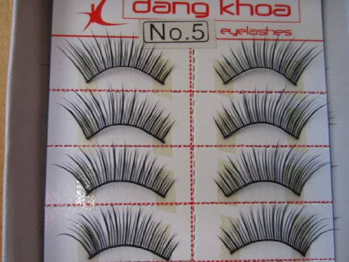 Model 21 Lashes High End No 5, 5A, 5B, 5+glitter or 5blue False Fake Eyelashes 10 Pairs