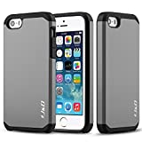 iPhone 5S 5 CASE, J&D [Slim Armor] Apple iPhone 5S 5 Case Rugged Heavy Duty Protective Case for iPhone 5S 5 - Black