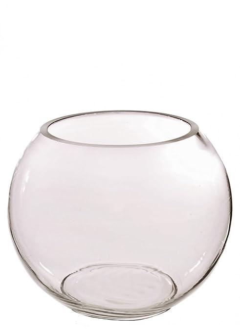 Jarrón de cristal transparente para pecera de Homestreet para mesa de boda, en muchos tamaños