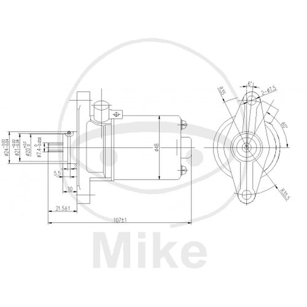 JMT Anlasser f. Kymco Agility 50 R12 4T uvm. Motorrad Matthies