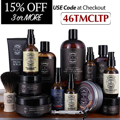 51CcNkxkrIL - Face Moisturizer for Men - Lather & Wood's Luxurious Sophisticated Mens Moisturizer for the Man's Man. Fragrance-Free Face Cream for Men. (Unscented, 3.5 ounce)