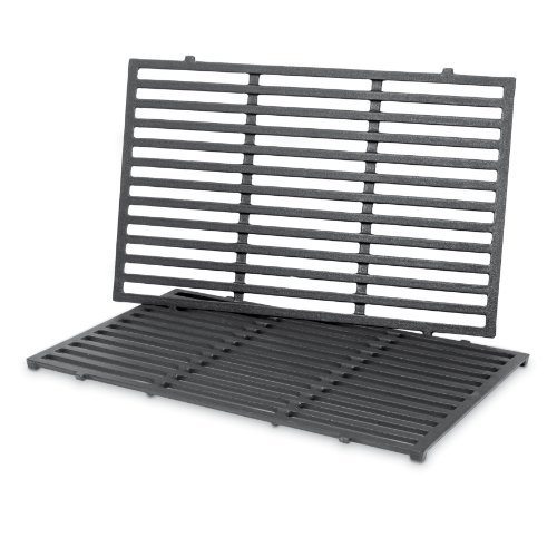 Weber 7524 Porcelain-Enameled Cast-Iron Cooking Grates (19.5 x 12.9 x 0.5) (Cooking Grates Set Weber)